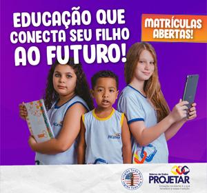 <span>Projetar | Campanha Matrícula 2019</span><i>→</i>